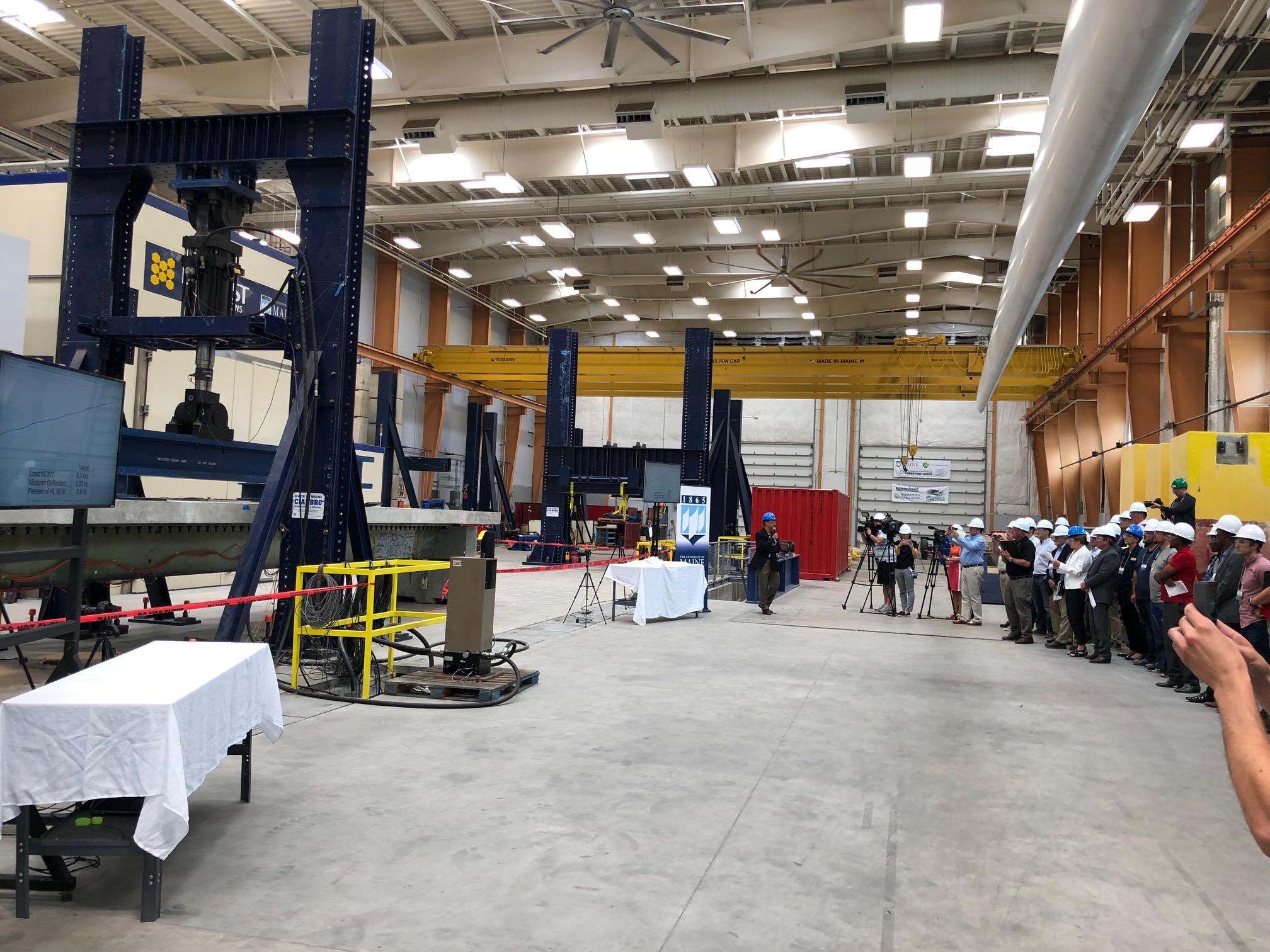 featured image for UMaine engineers unveil, test innovative bridge system