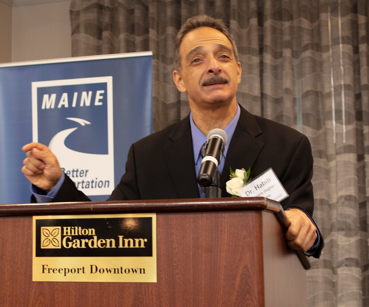 featured image for Dr. Habib J. Dagher Recognized as 2019 Transportation Champion by the Maine Better Transportation Association