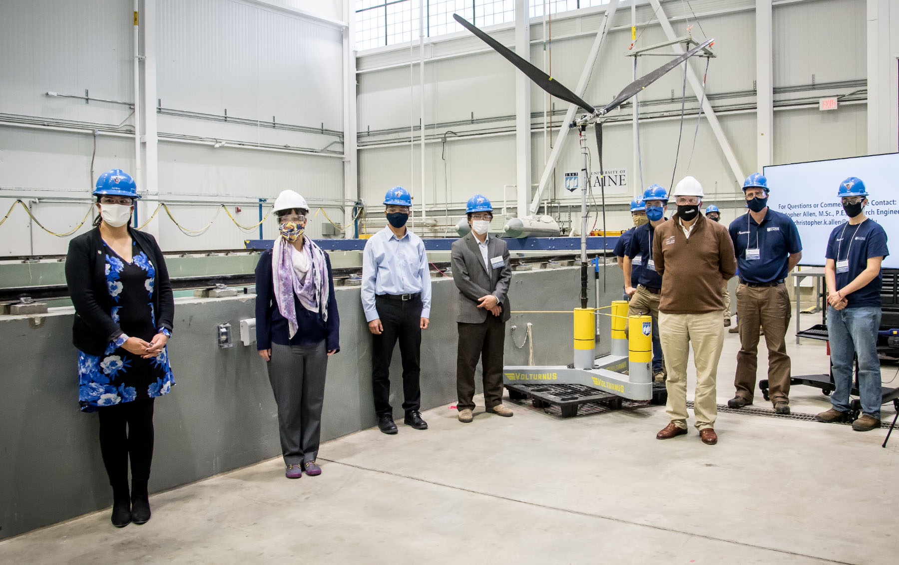 featured image for Top U.S. Department of Energy Official Tours the University of Maine Advanced Structures and Composites Center