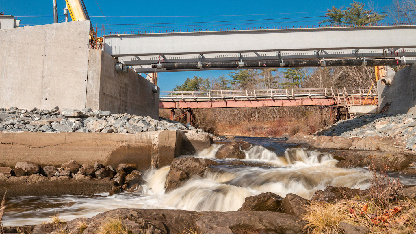 featured image for Hampden bridge event celebrates UMaine's groundbreaking research in sustainable, low-cost transportation solutions